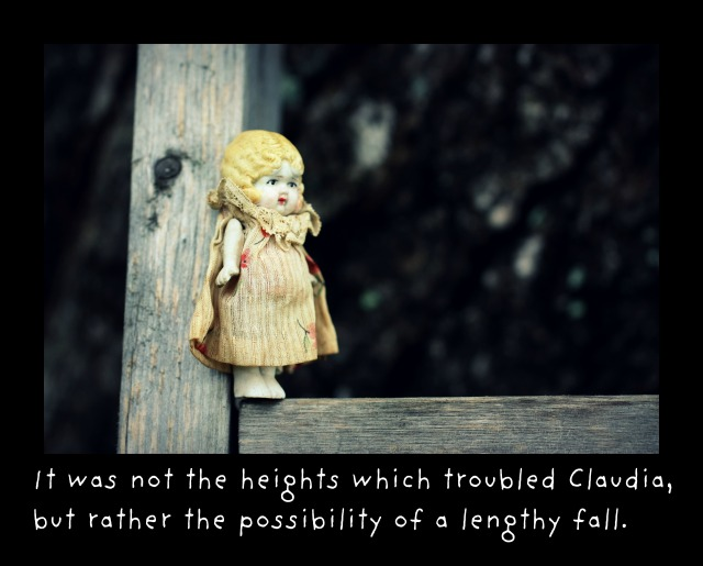t was not the heights which troubled Claudia, but rather the possibility of a lengthy fall.textframe