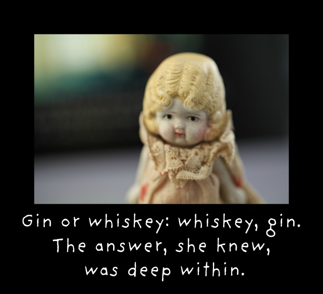 gin and whiskey