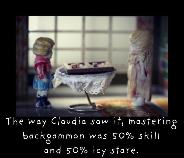 claudia backgammon framed b skill stare