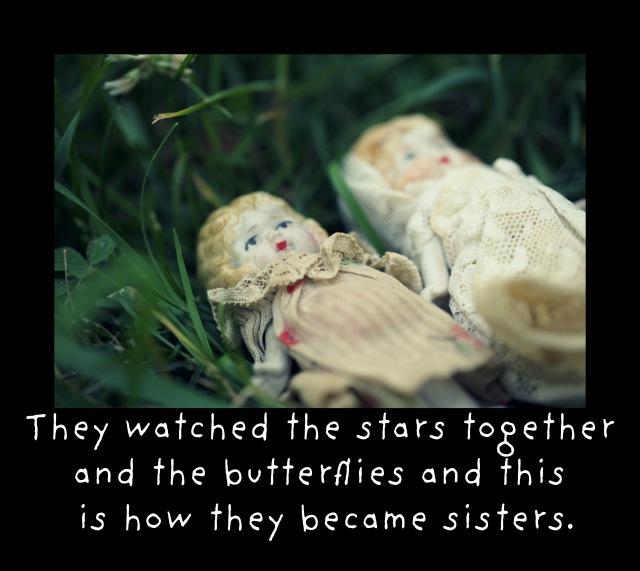 sisters in stars and butterflies