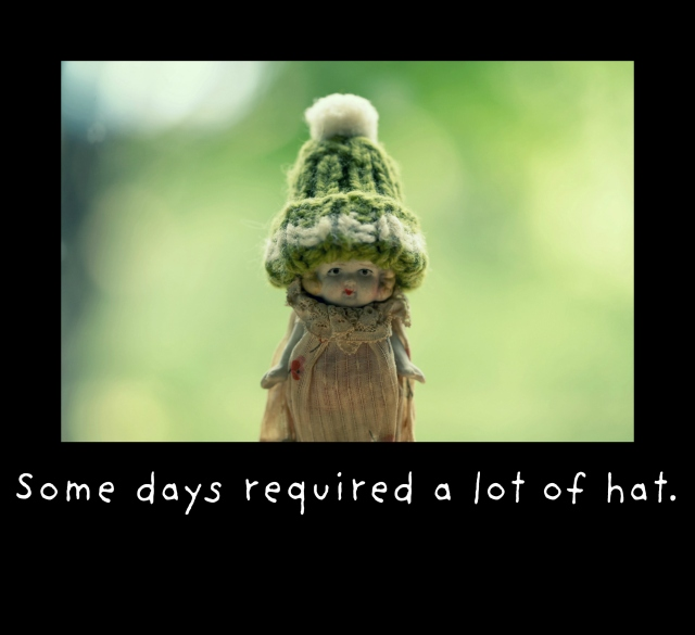 some days required a lot of hat