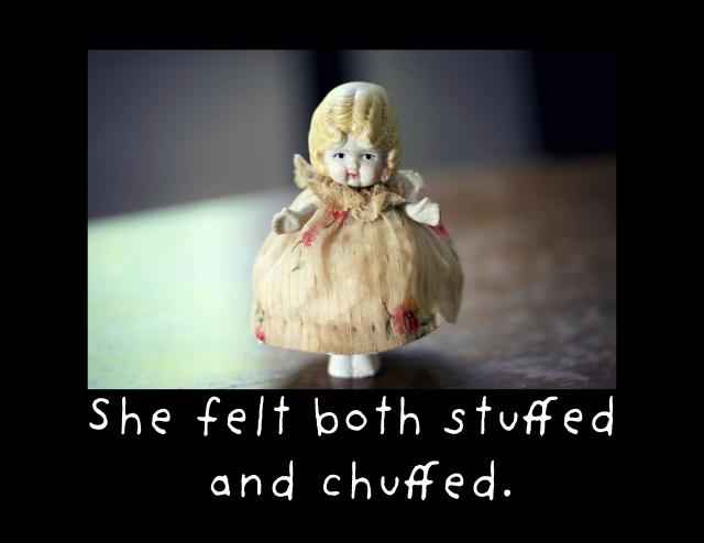 stuffed and chuffed framed card