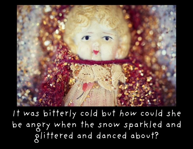 Claudia snow glittered sparkled mad