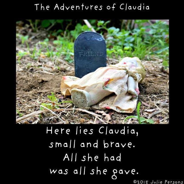 Claudia headstone epitaph instagram