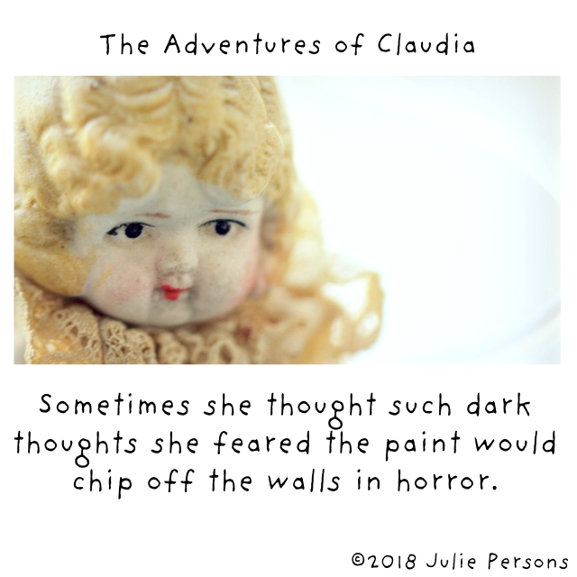 Sometimes she thought such dark thoughts paint horror claudia white 2018 square instagram CROP