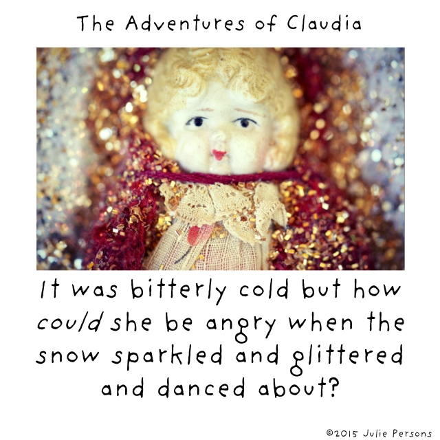 Claudia snow glittered sparkled danced white square instagram